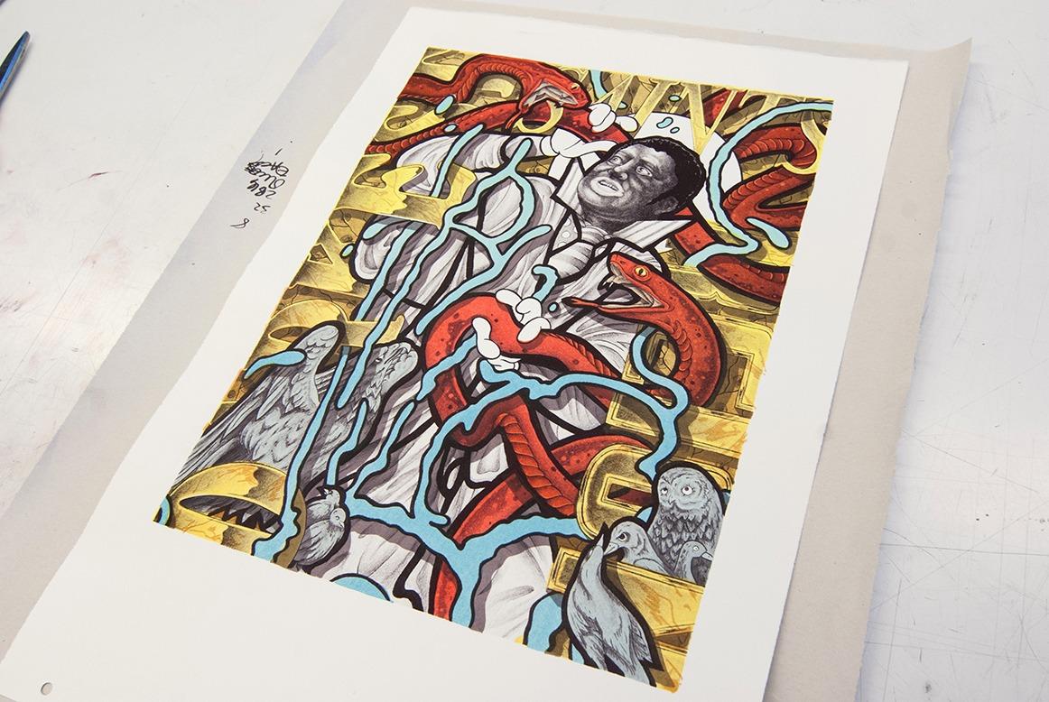 Aaron Coleman Workshop in Printmaking