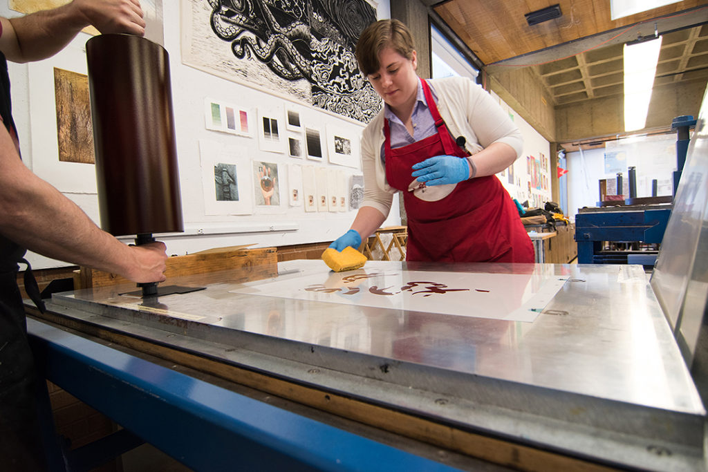 Aaron Coleman visit to Printmaking