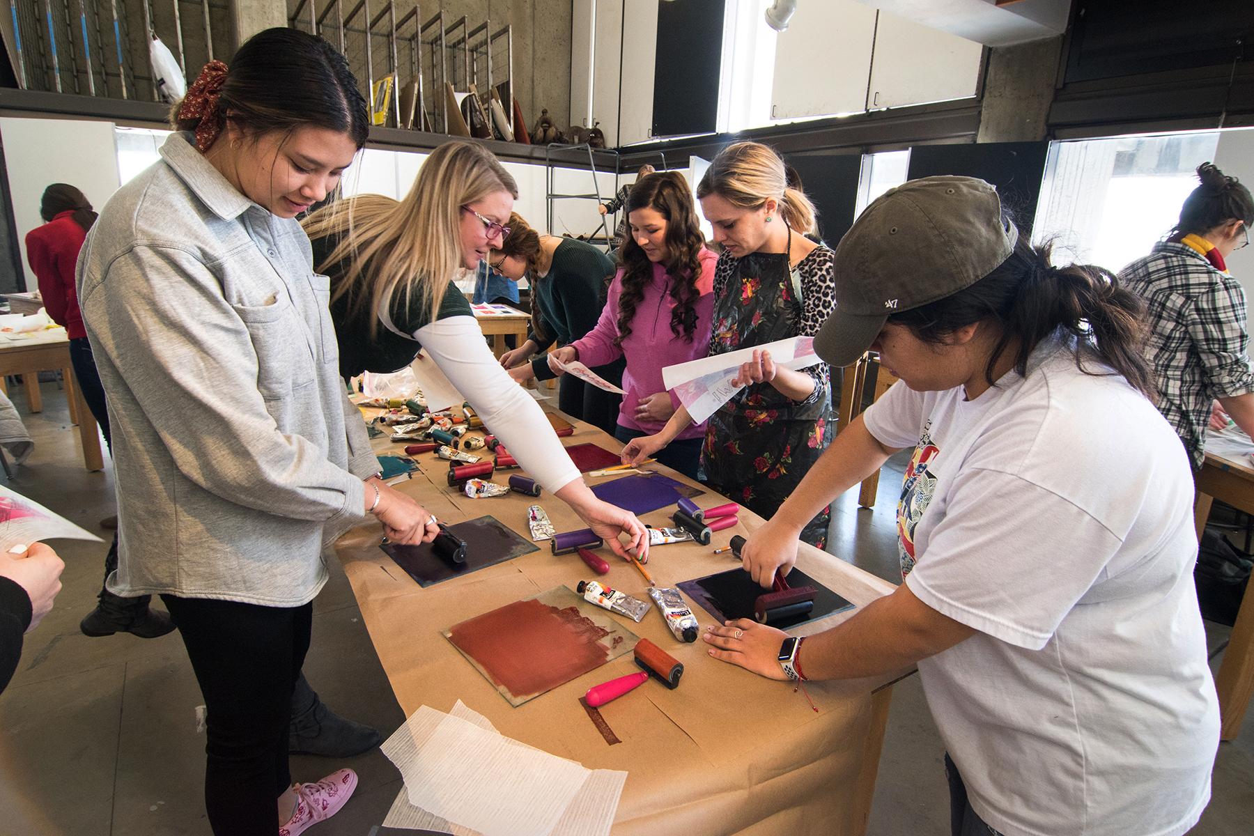 Printmaking Workshop in Art Teaching, 2019