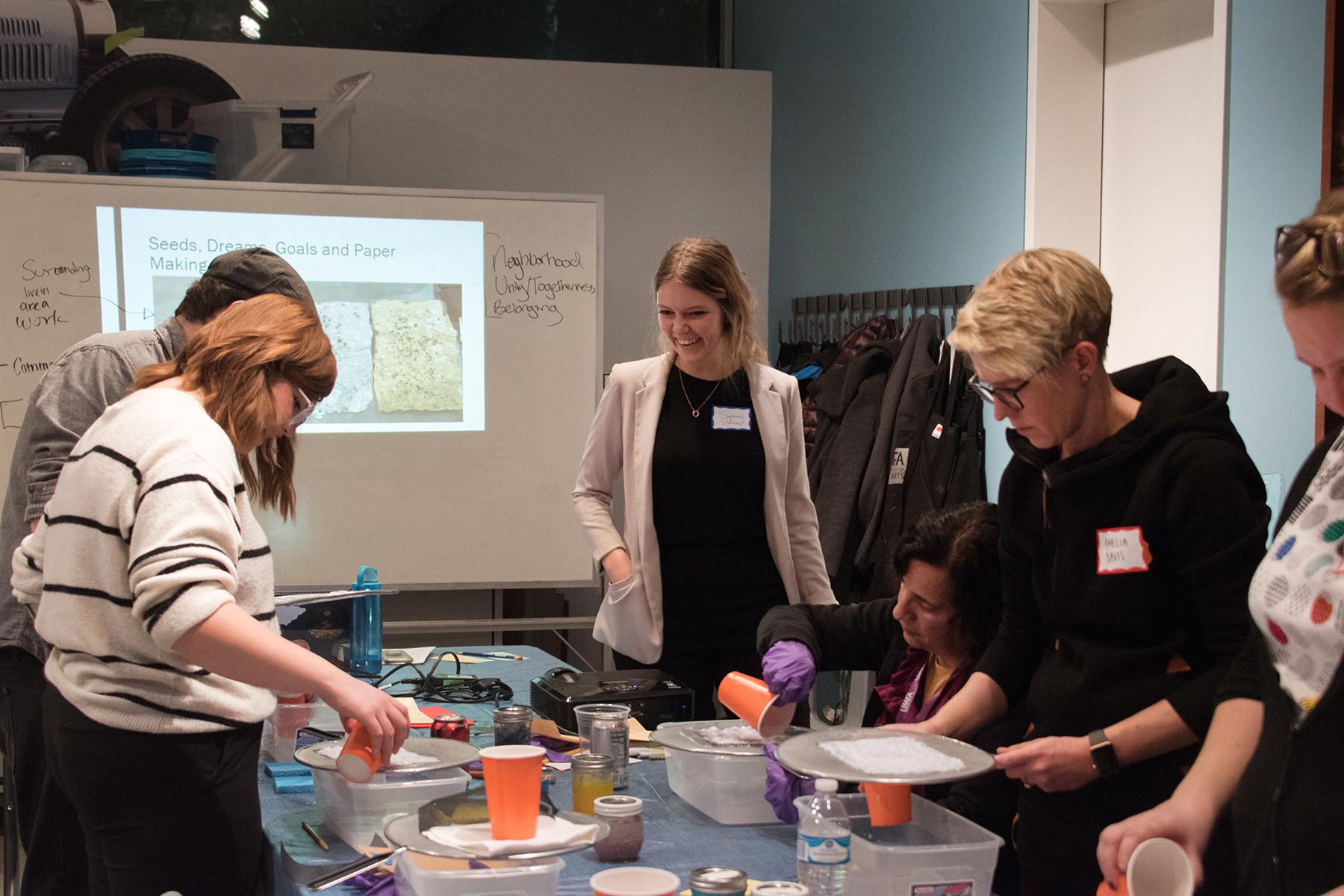 Seed Paper Making, UAEA Teacher's Night at the Utah Museum of Fine Arts, 2018