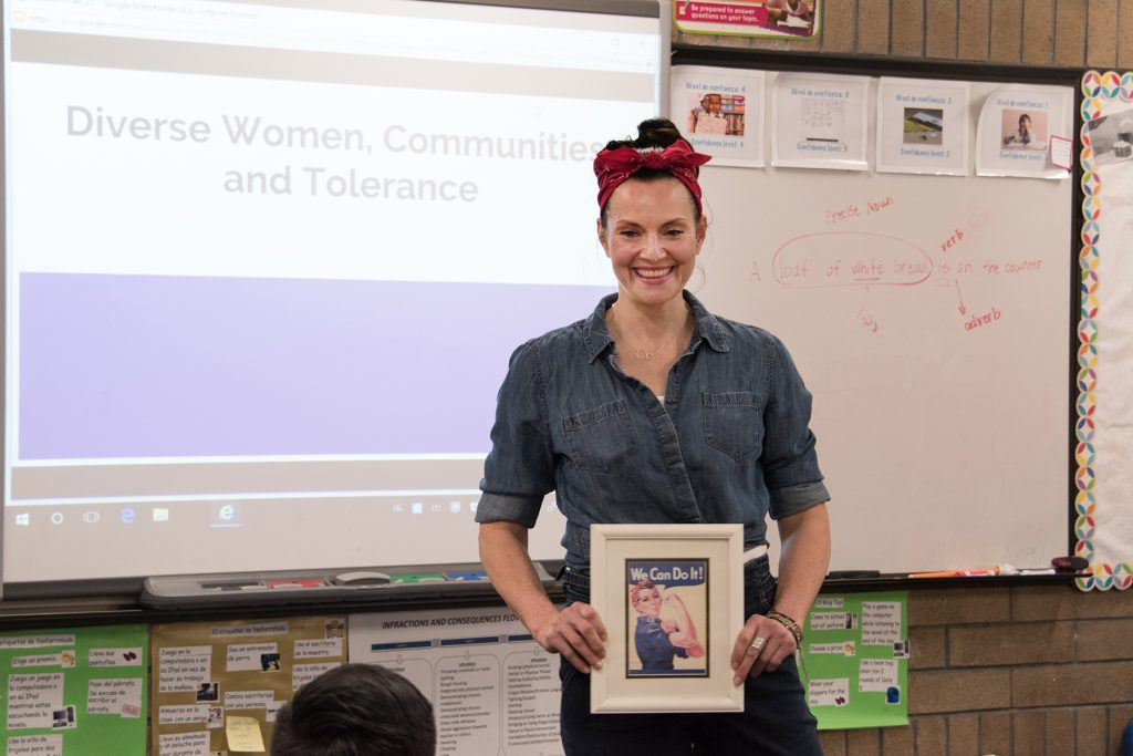 Art in the Community class at Jackson Elementary, 2018