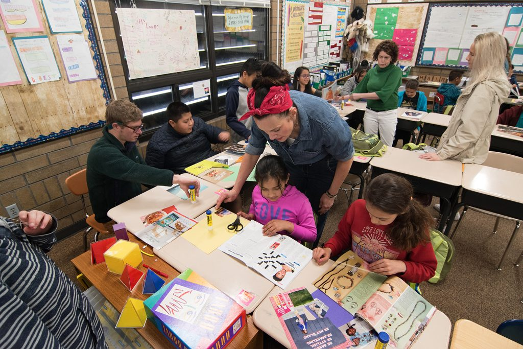 Art in the Community class at Mary W. Jackson Elementary School