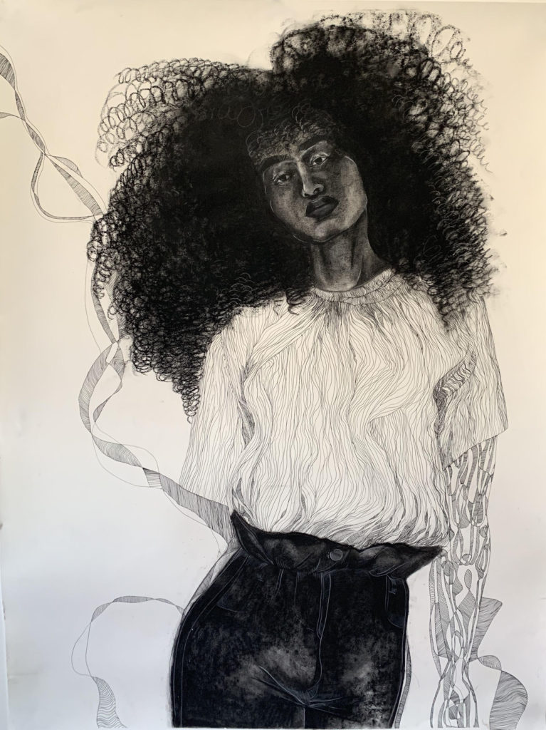 Ashley Johnson.Interlace, 36X50, 2019