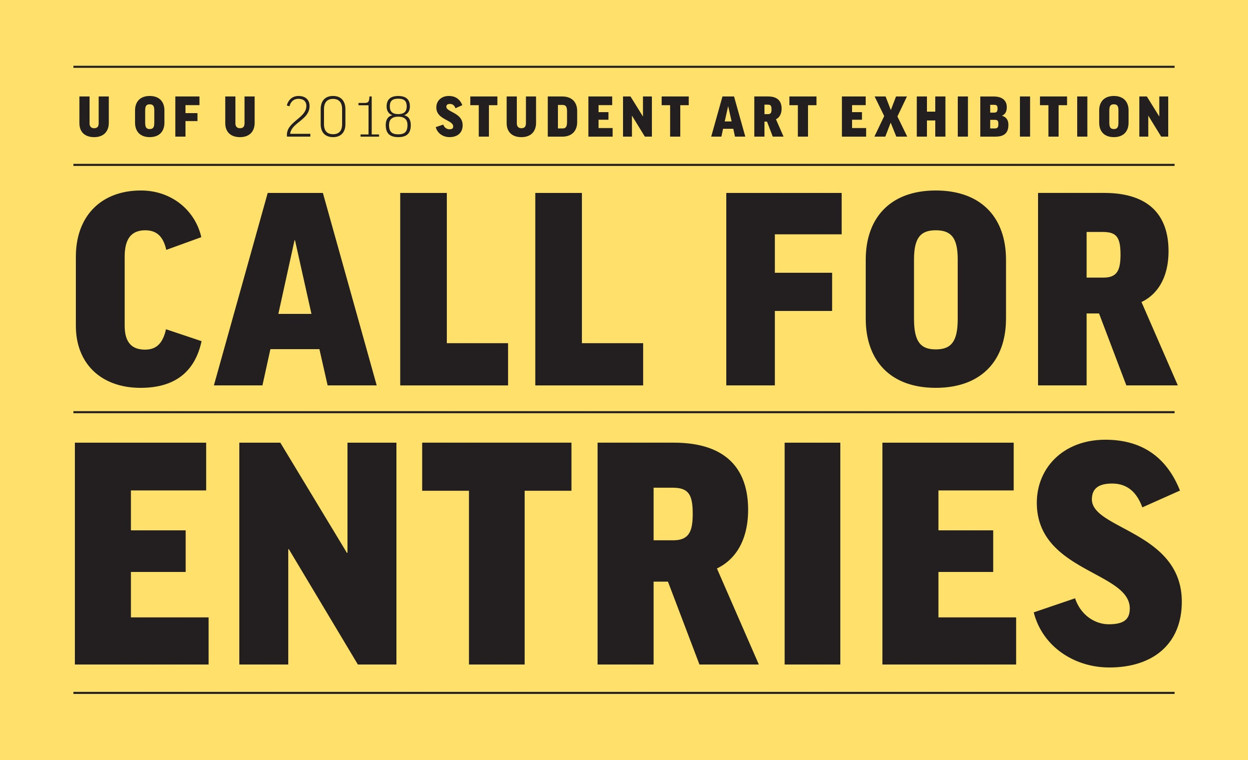 Call For Entries Student Show 2018