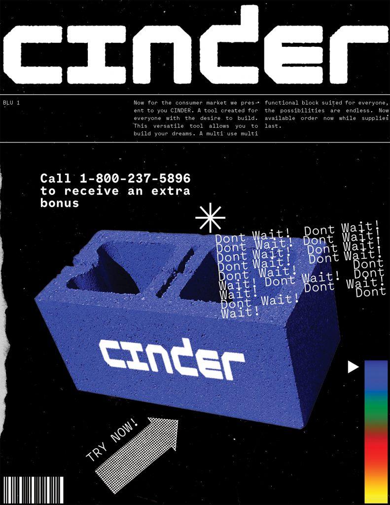 Cinder, Hayden Clark, 2020, branding/product design