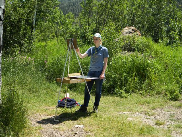 Plein Air Painting in Centennial Valley, Montana