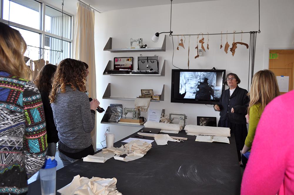 Class with the 2014 Warnock Visiting Artist, J. Morgan Puett