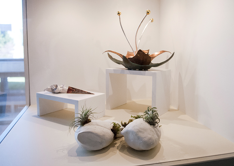 A Symbiotic Place, Kate Steinicke; Untitled, Karen Southam; Cupric, John C. Tavoian