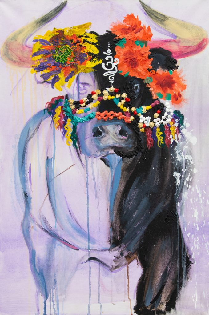 "El Blanco // Bullseye, Victoria Dennis, Acrylic Paint on Canvas, 24x36"""