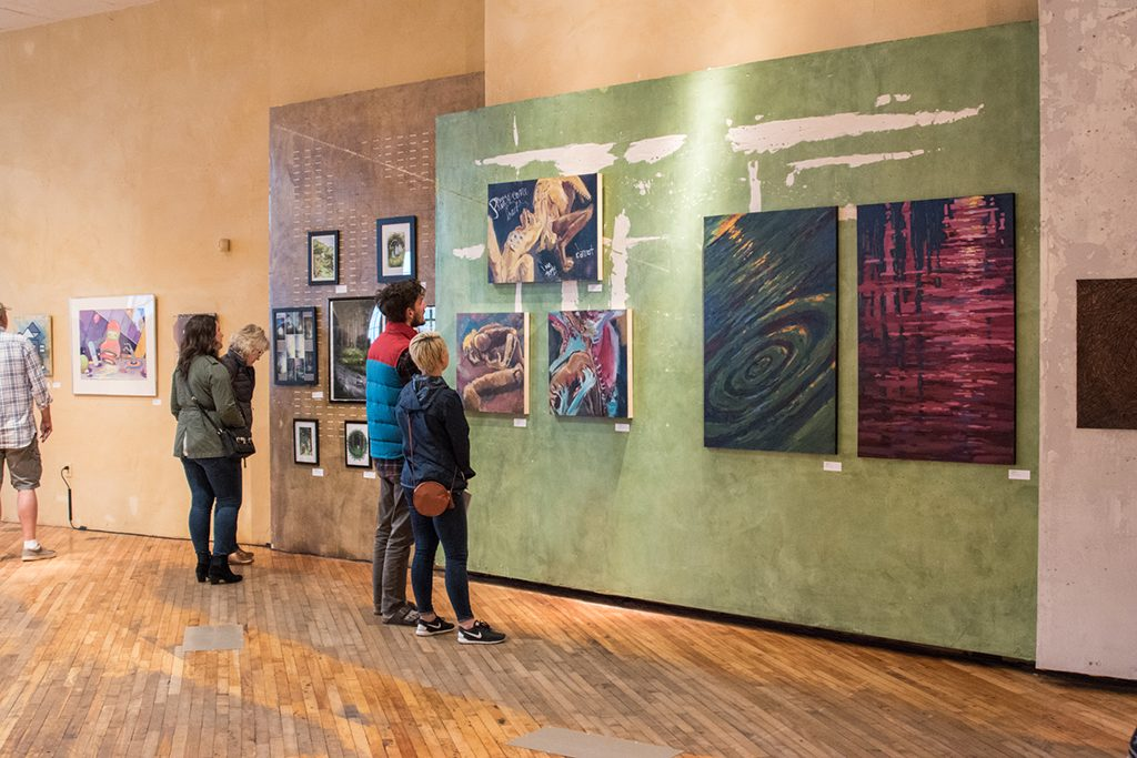 Embark Exhibition, April 2017. Artwork: Madelien Stanfield, Kalvan Sears, Alexis Rogers (left to right)