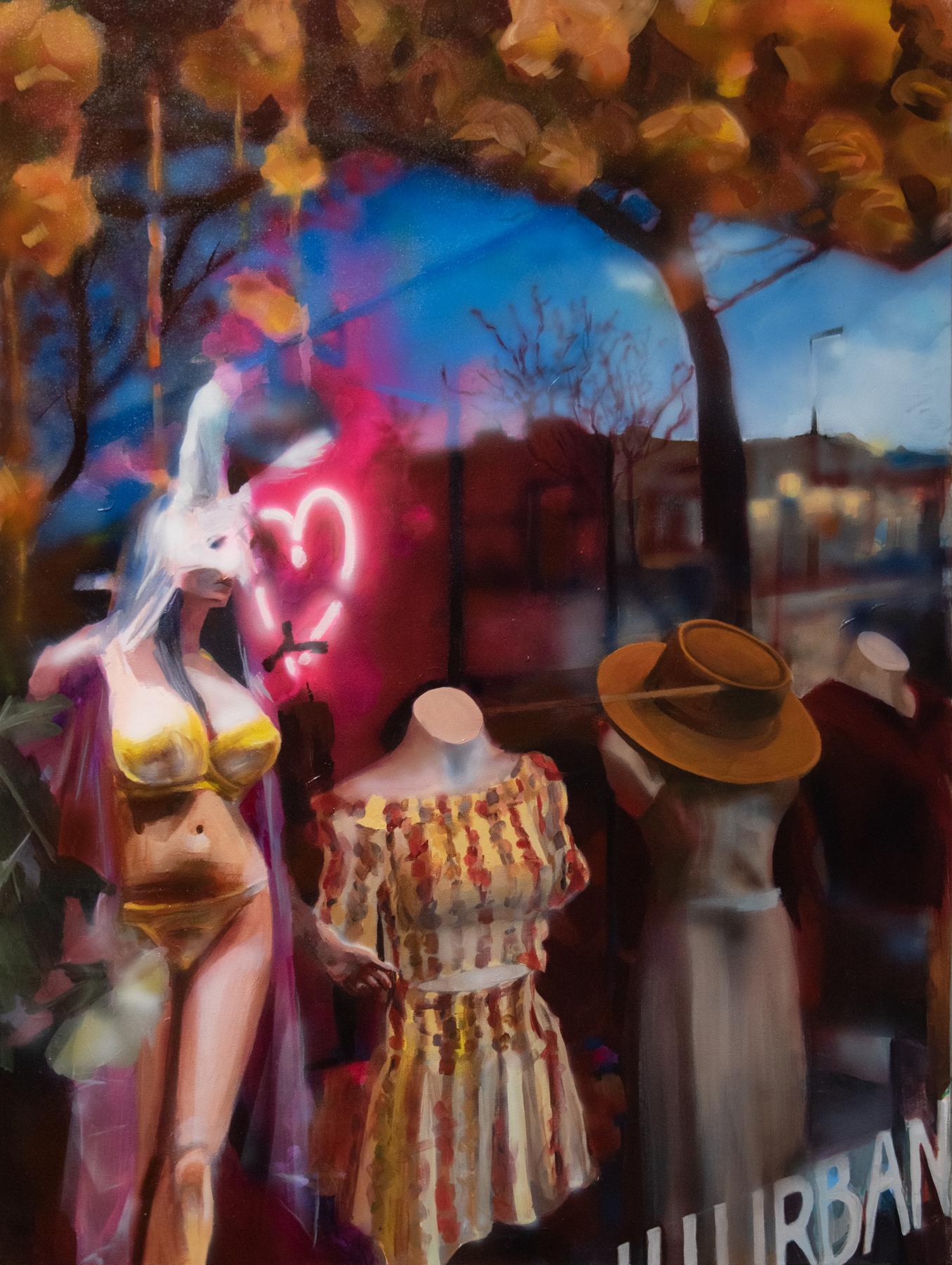 """It Lives in the Heart"", Alyssa Hood, 2019, acrylic on canvas, 40 x 30 in."