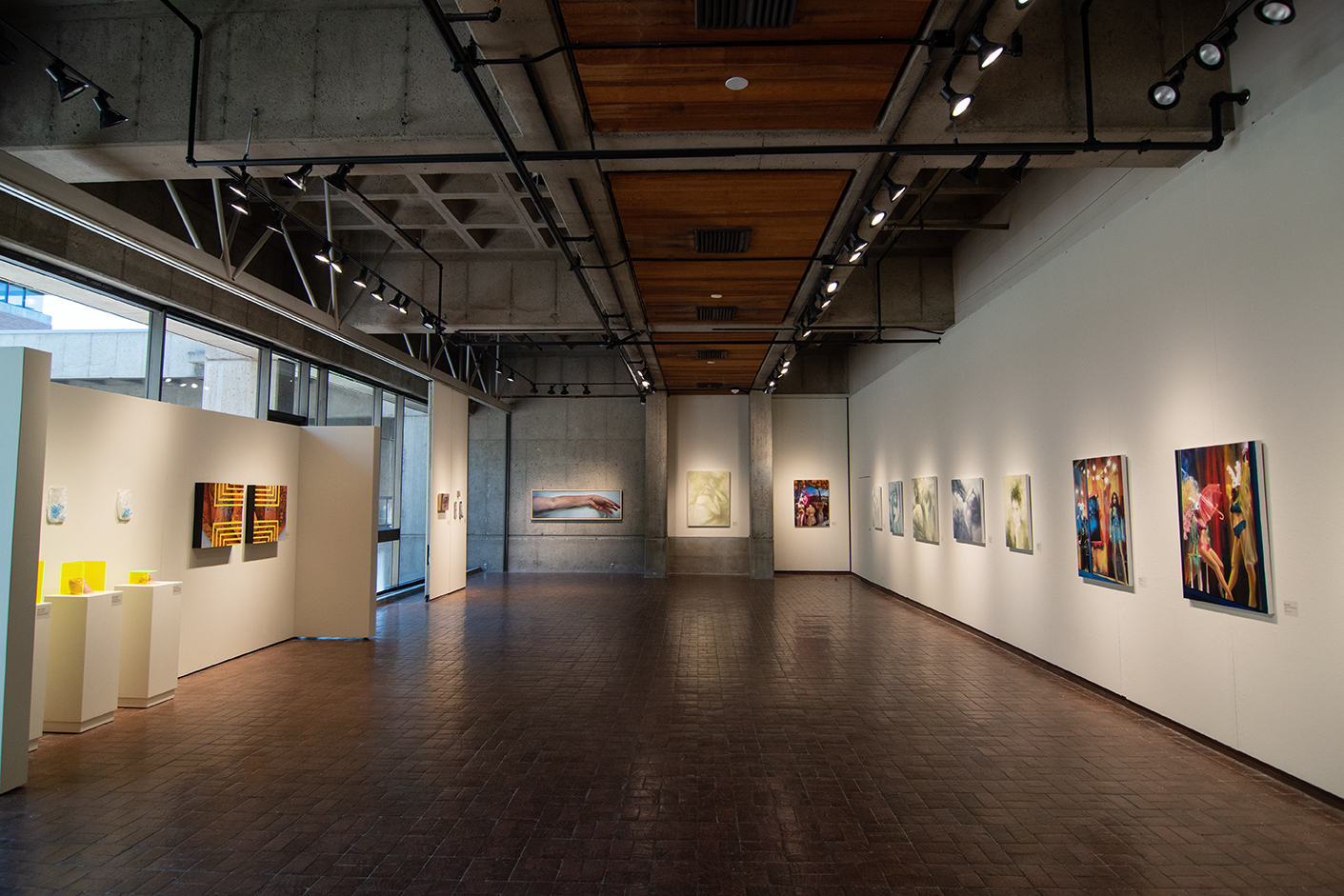 Howard Clark Scholarship Exhibition Gittins Gallery, August 2019 artwork: Alyssa Hood, Lucy Le Bohec, and Alexis Rausch