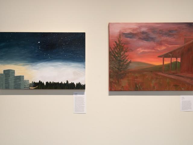 Taft Nicholson Exhibition: In Plein Site, 2019 Artwork by Ali Dunford (left), Alli Jensen (right)