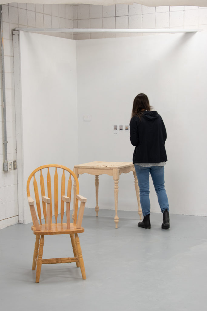 This Is Not A Furniture Show, 2019, artwork: Talia Tacy (foreground), Valeria Johansen (background)