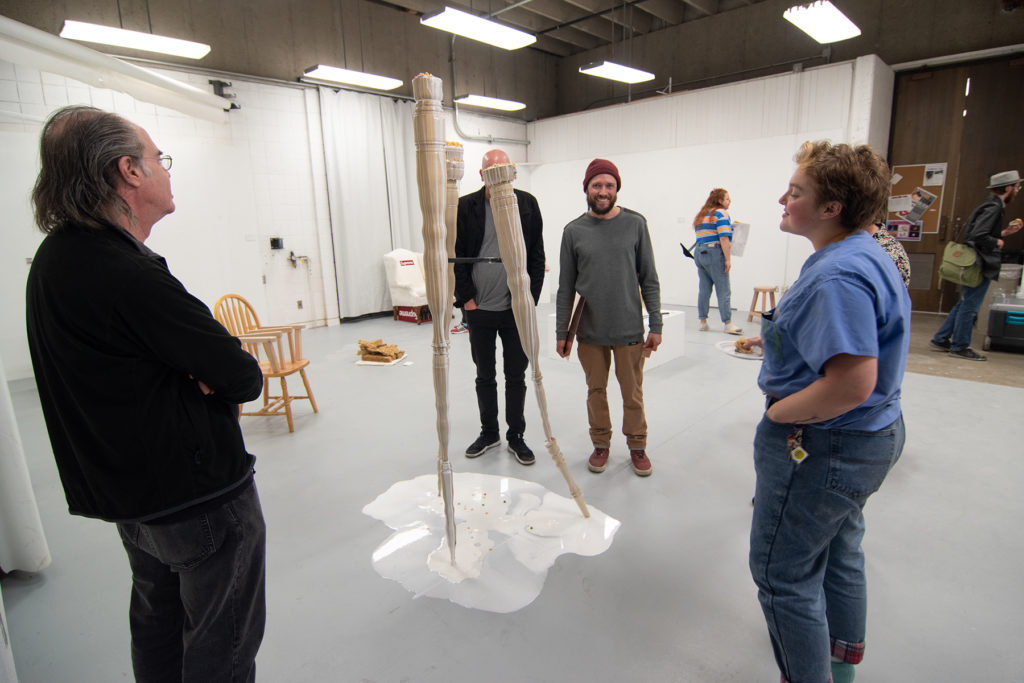 This Is Not A Furniture Show, 2019, artwork: Bea Hurd (foreground)