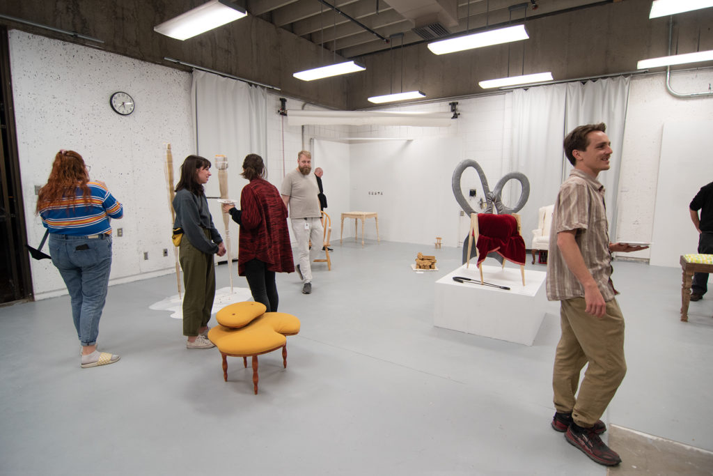 This Is Not A Furniture Show, 2019, artwork: Laurie Larson, Kelly Goff (foreground l-r)