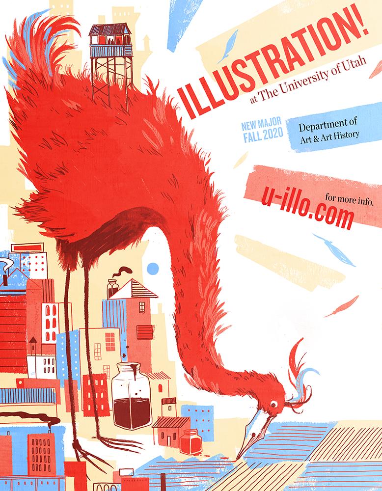 Illustration poster, Michael Hirshon