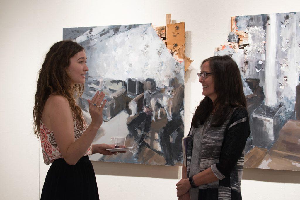 "Howard Clark Scholarship Exhibition, 2018, Gittins Gallery - ""Falsely Advertised Slumber Party"", Mitchell Lee, 2018, mixed media"""
