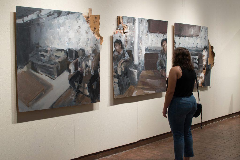 "Howard Clark Scholarship Exhibition, 2018, Gittins Gallery - ""Falsely Advertised Slumber Party"", Mitchell Lee, 2018, mixed media"