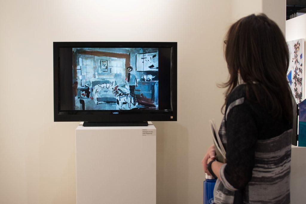 "Howard Clark Scholarship Exhibition, 2018, Gittins Gallery - ""Timelapse of Very Little Happening"", Mitchell Lee, 2018, mixed media"