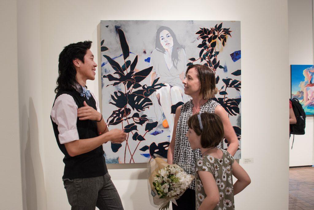 "Howard Clark Scholarship Exhibition, 2018, Gittins Gallery - ""Natalie (Gray)"", Abigail Mitchell, 2018, acrylic on wood"