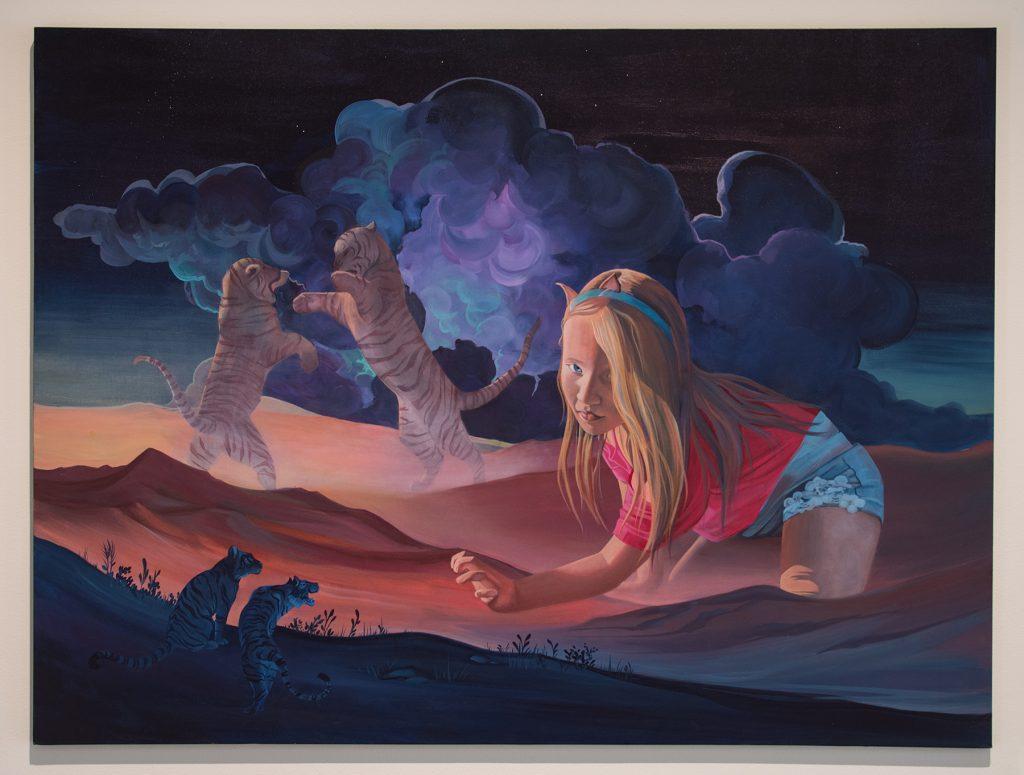 "Howard Clark Scholarship Exhibition, 2018, Gittins Gallery - ""Follow the Power Animal to the Cave"", Halley Bruno, 2018, acrylic on canvas"
