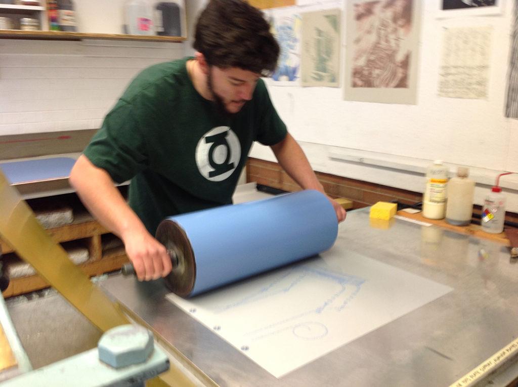Printmaking workshop with Humberto Saenz
