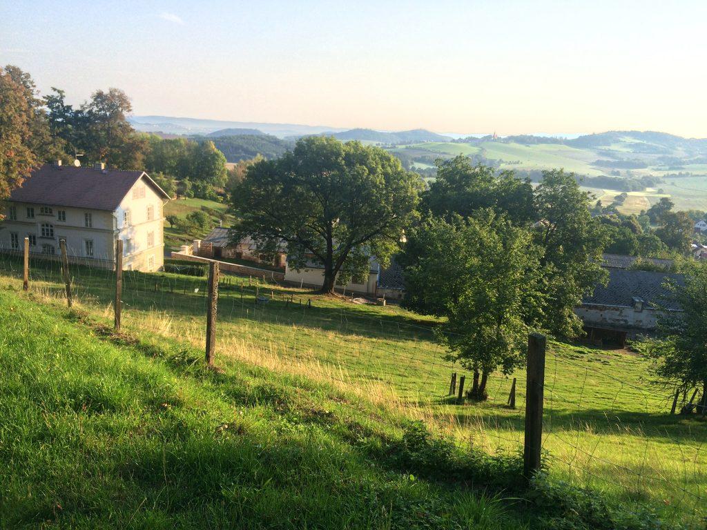 Czech Countryside around Klenova Castle