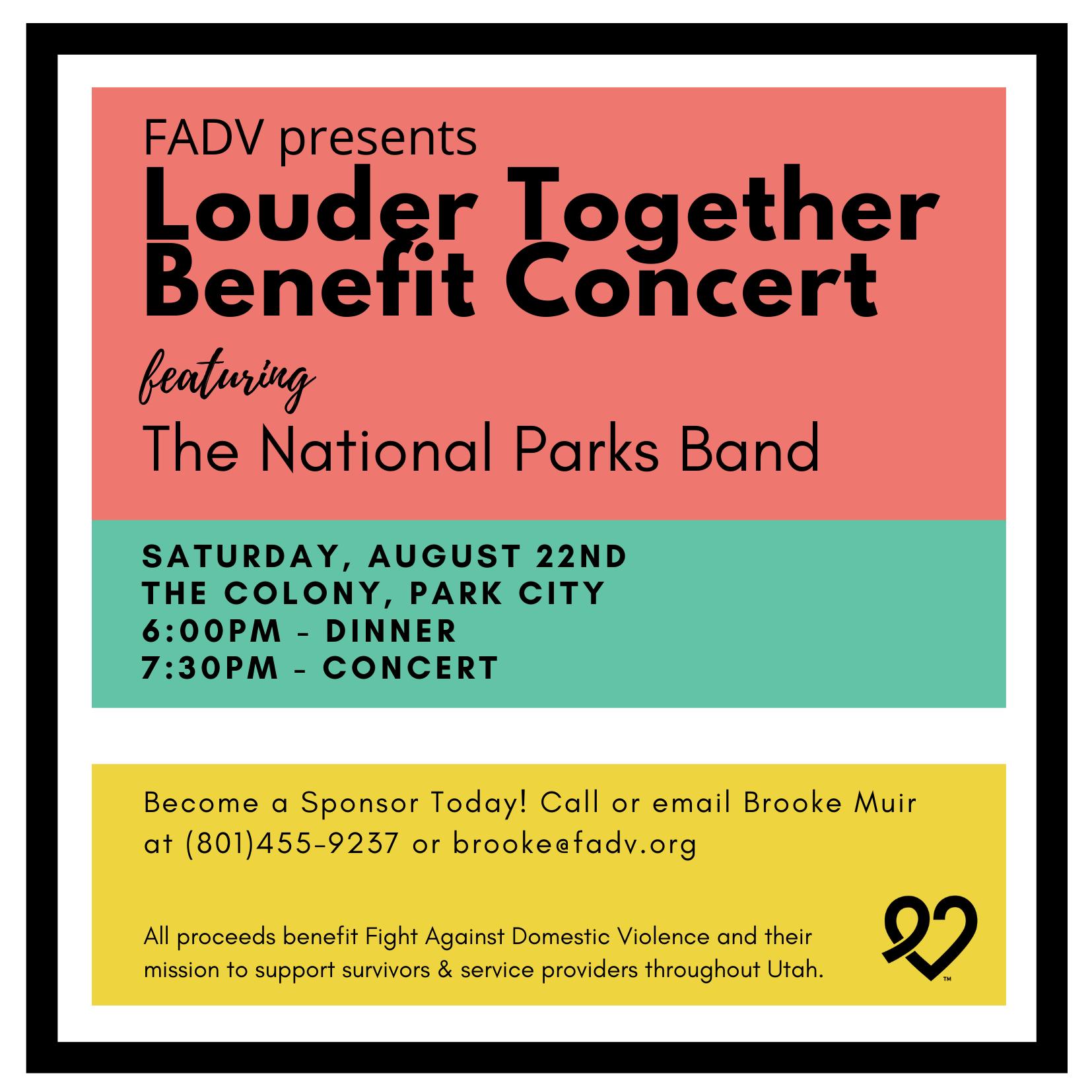 Louder Together Benefit Invitation