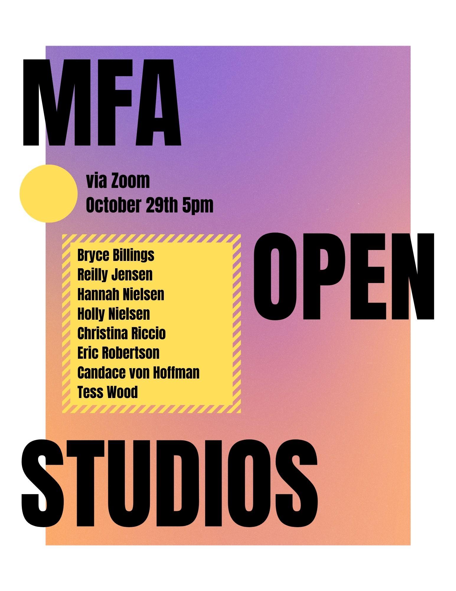 MFA Open Studios 2020