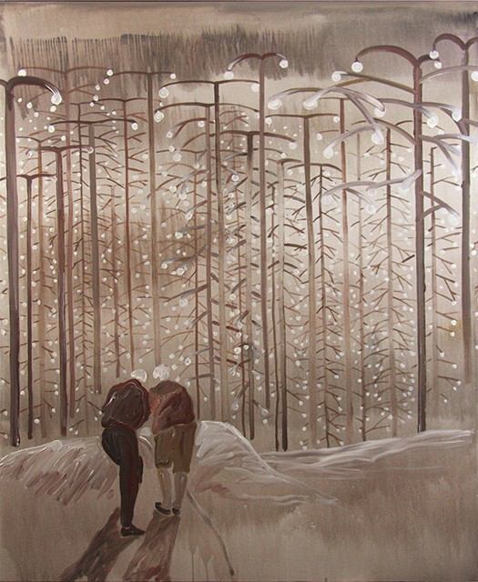 "Forest, Acrylic on Canvas, 72 x 60"", 2016"