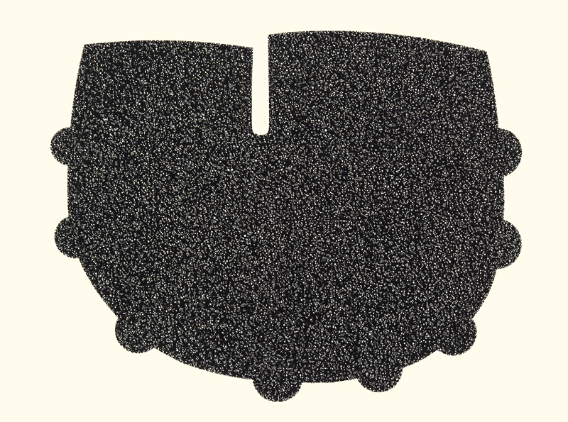 Mike Stack.Ink Form 74 22 X 30 inches ink on paper 12:29:18