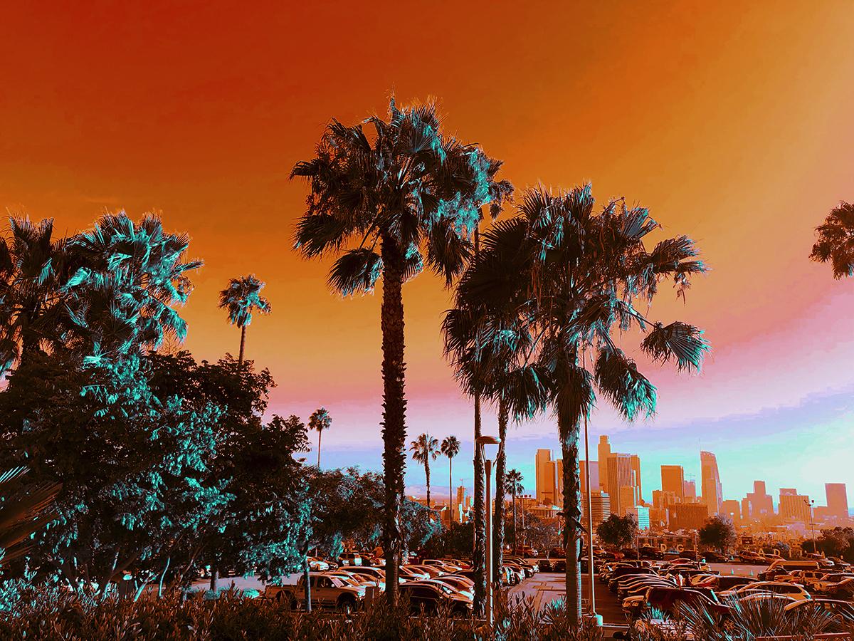 "Dodger Stadium, Los Angeles, California - Natalie Hopes, infrared digital photograph, 20 x 30"""