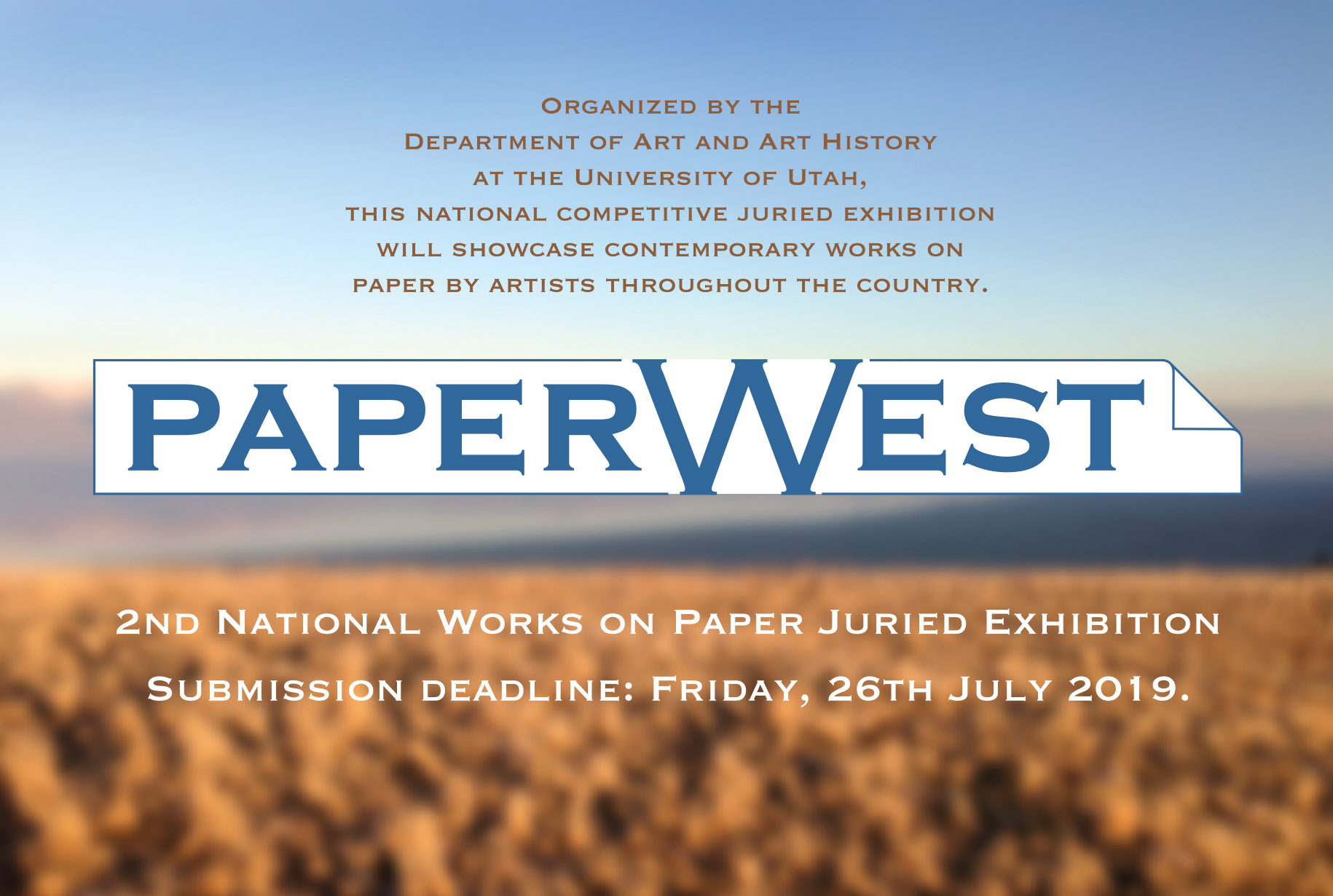 PaperWest 2019 call for entries