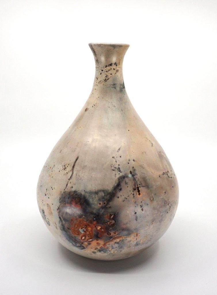 Pit Fired Vase, Hanna Bowen, 2020, ceramic