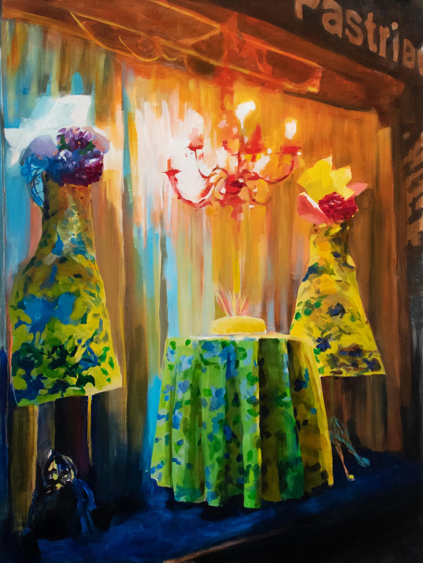 """Madame's Sugar High"", Alyssa Hood, 2019, acrylic on canvas, 40 x 30 in."