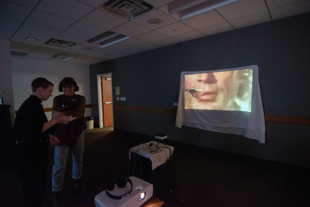 Video Evidence Exhibition, artwork by Comstock