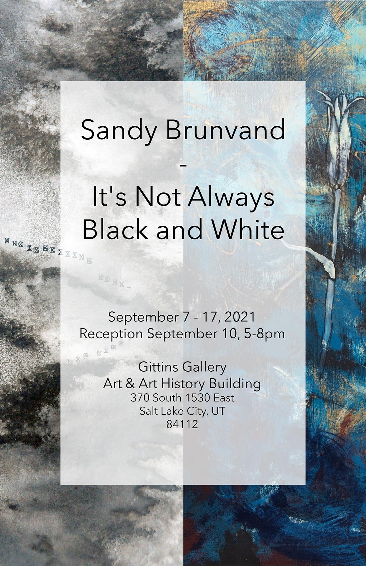 Sandy Brunvand Exhibition Poster