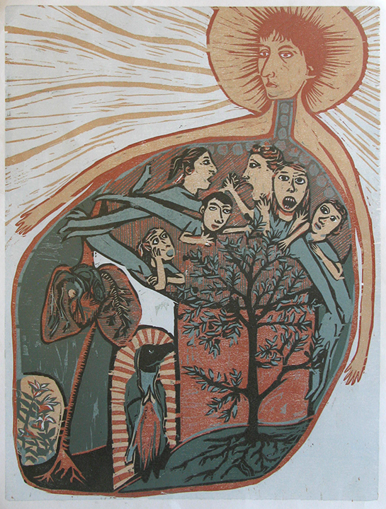 Advanced Print. Sarah Duncan. Relief. 2014.