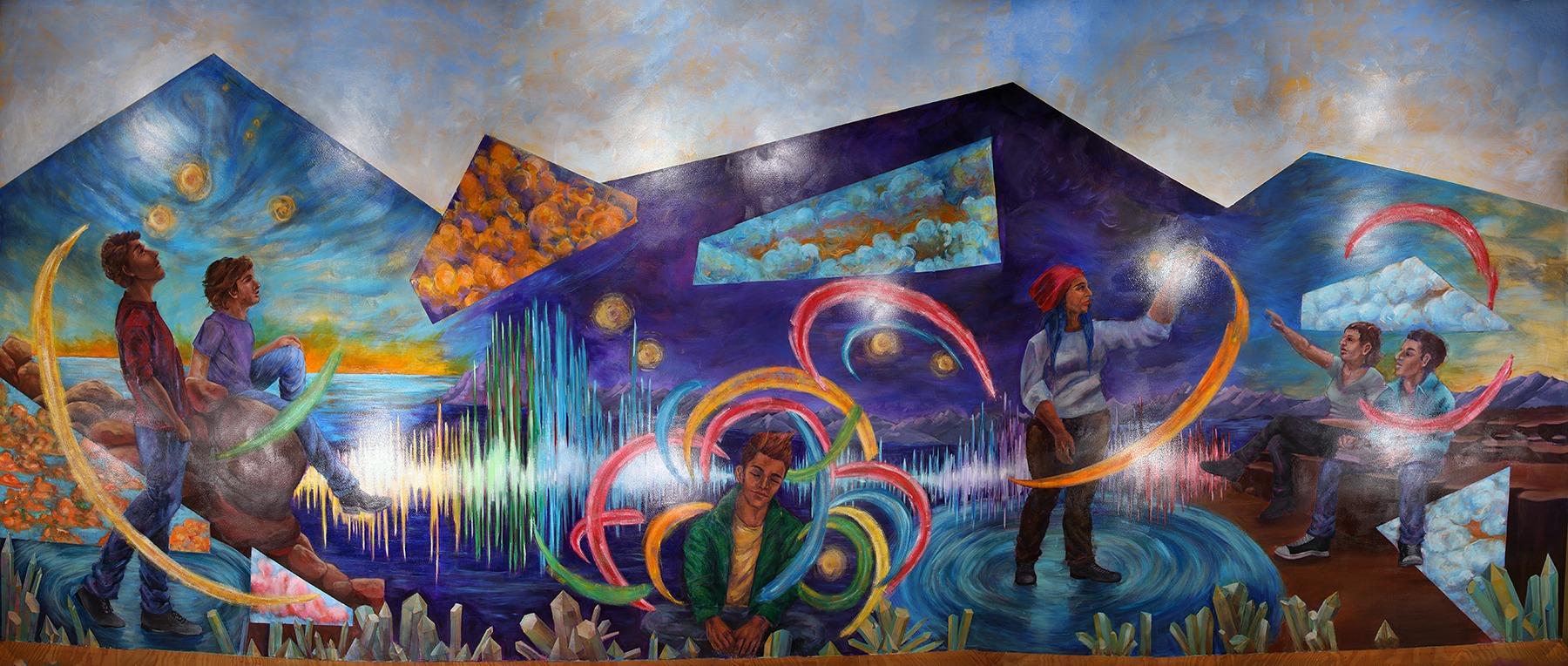 Stars Shine Brightest in the Dark mural