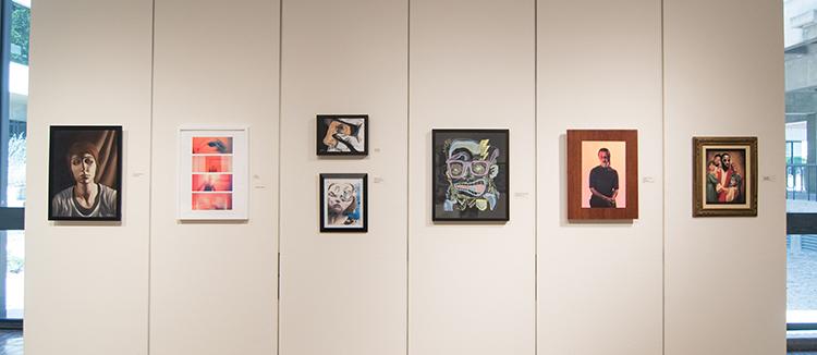 2017 Student Exhibition, Gittins Gallery. Artwork: Lucy LeBohec, Scott Beadles, Eva Holbrook, Christina Jones, Dane Goodwin, Mikey Baratta, Cole Atencio