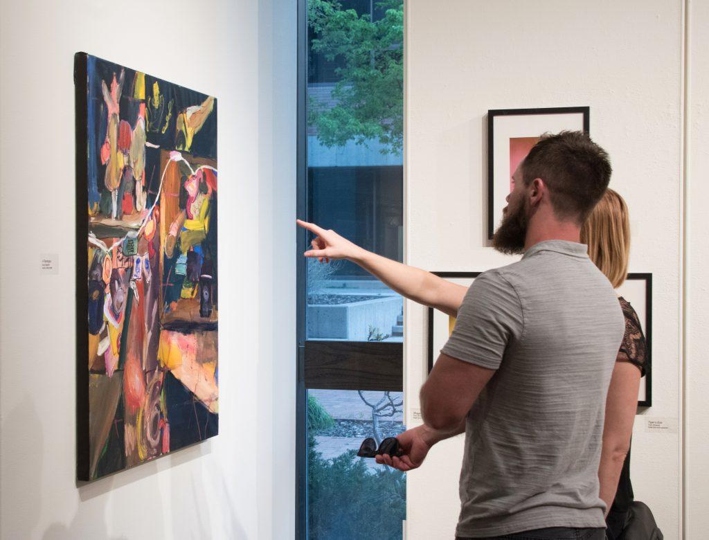 2017 Student Exhibition, Gittins Gallery. Artwork: Amy Ungricht