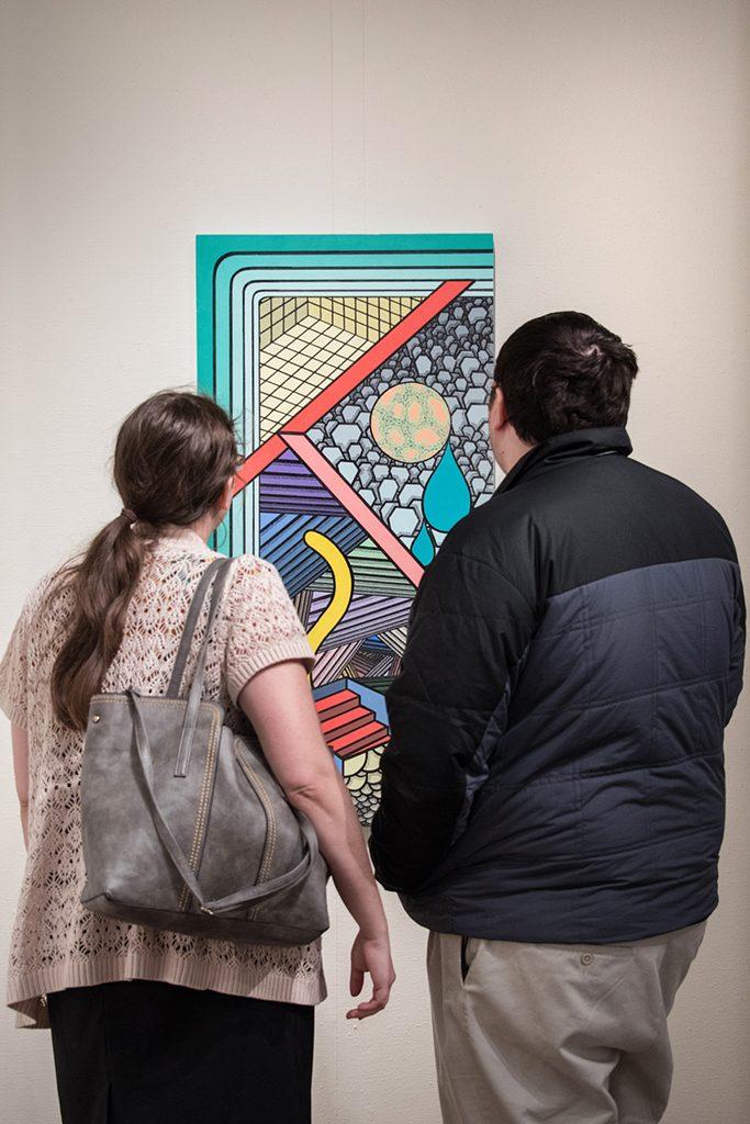 2017 Student Exhibition, Gittins Gallery. Artwork: Kyle Wengler
