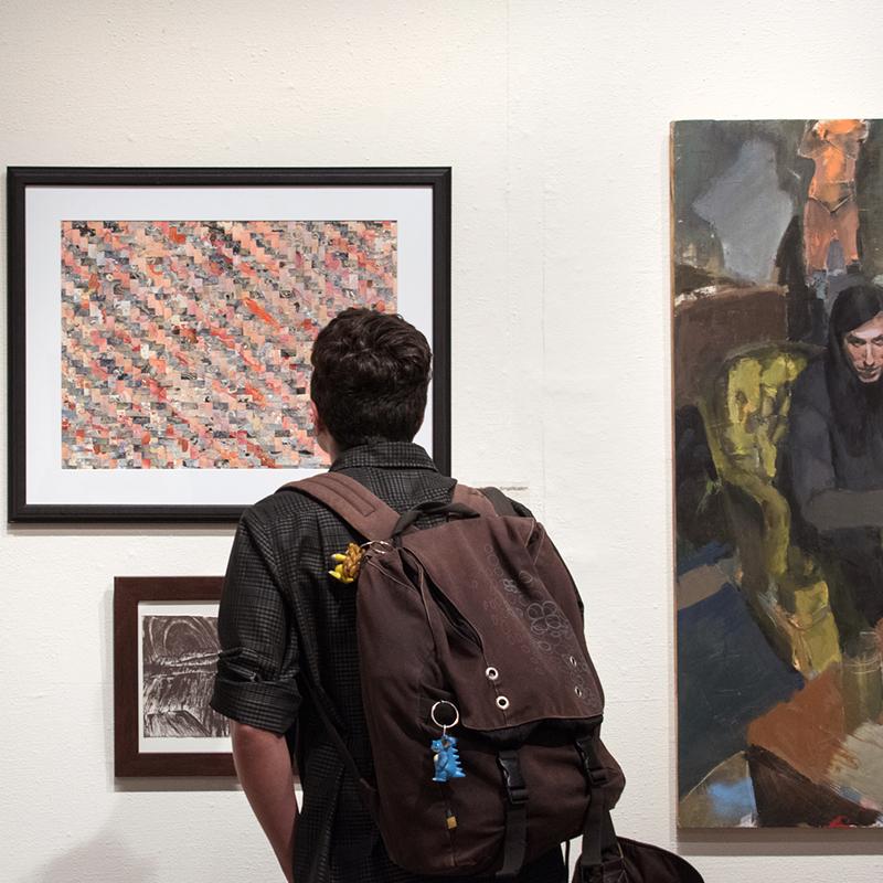2017 Student Exhibition, Gittins Gallery Artwork: Michael Jensen, Diana Gentillon, Grant Nielson