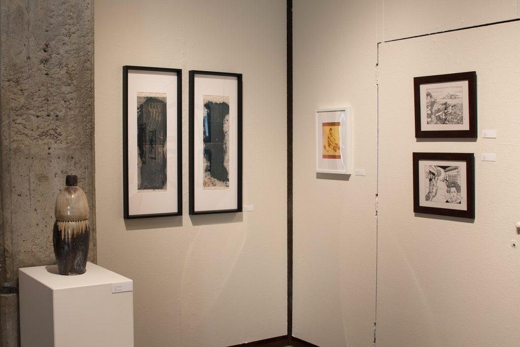 Annual Student Exhibition, 2018: artwork by Julia Hummer, Mikey Baratta, Dilan Li