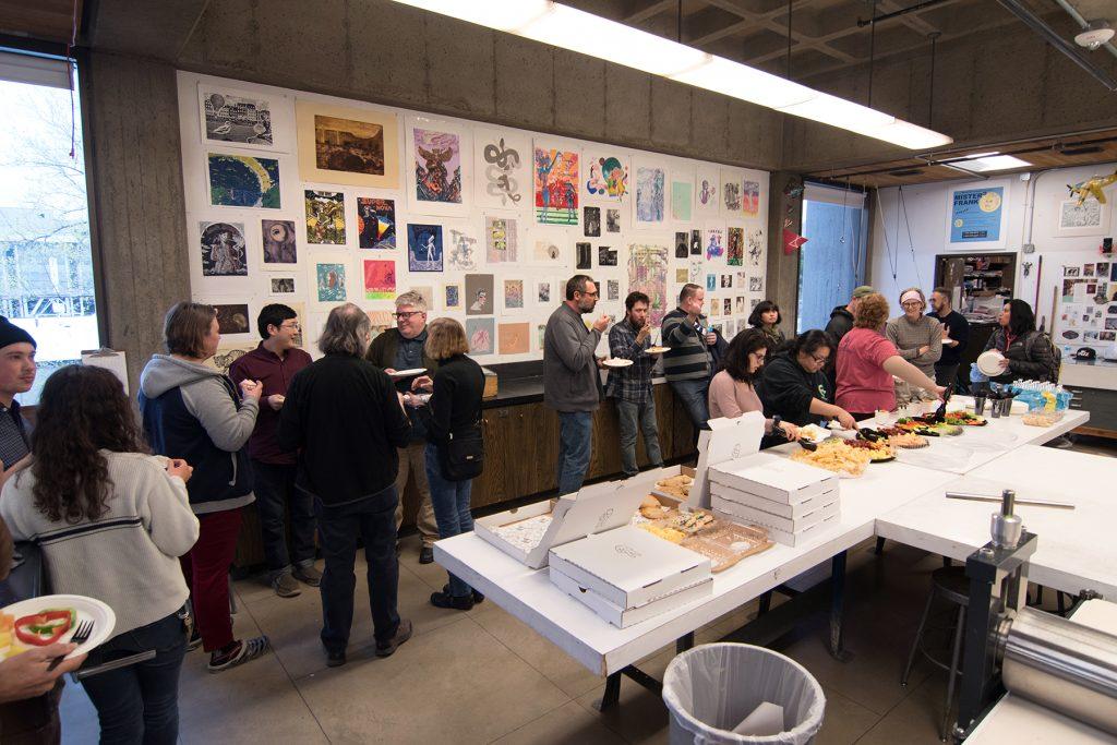 Annual Student Exhibition, 2018: Opening Reception; Printmaking Studio