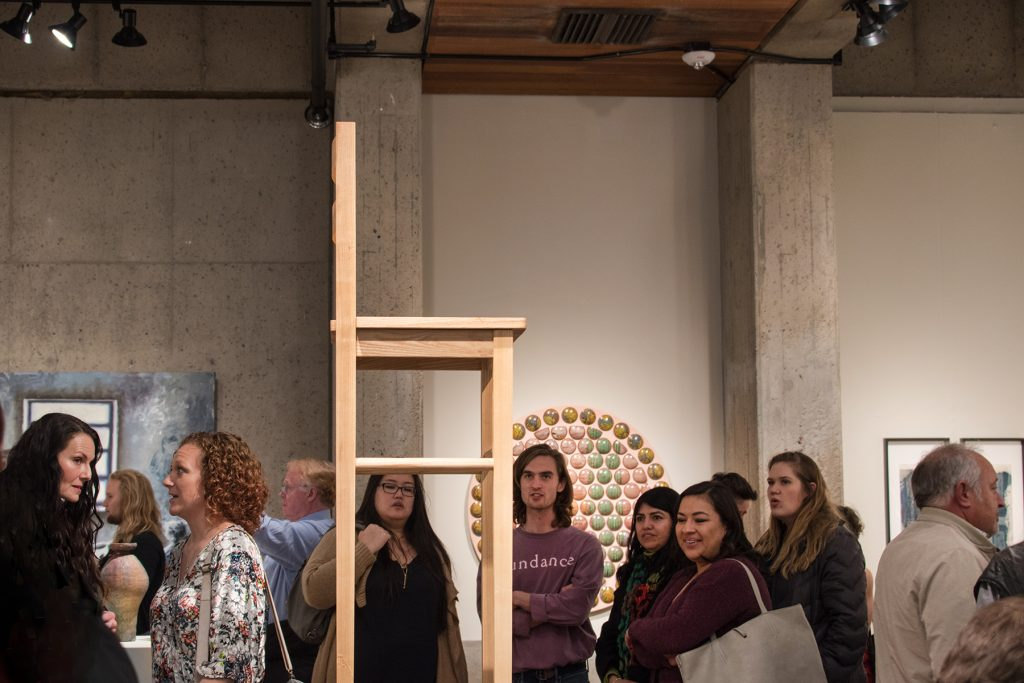 Annual Student Exhibition, 2018: Opening Reception; artwork by Nate Francis