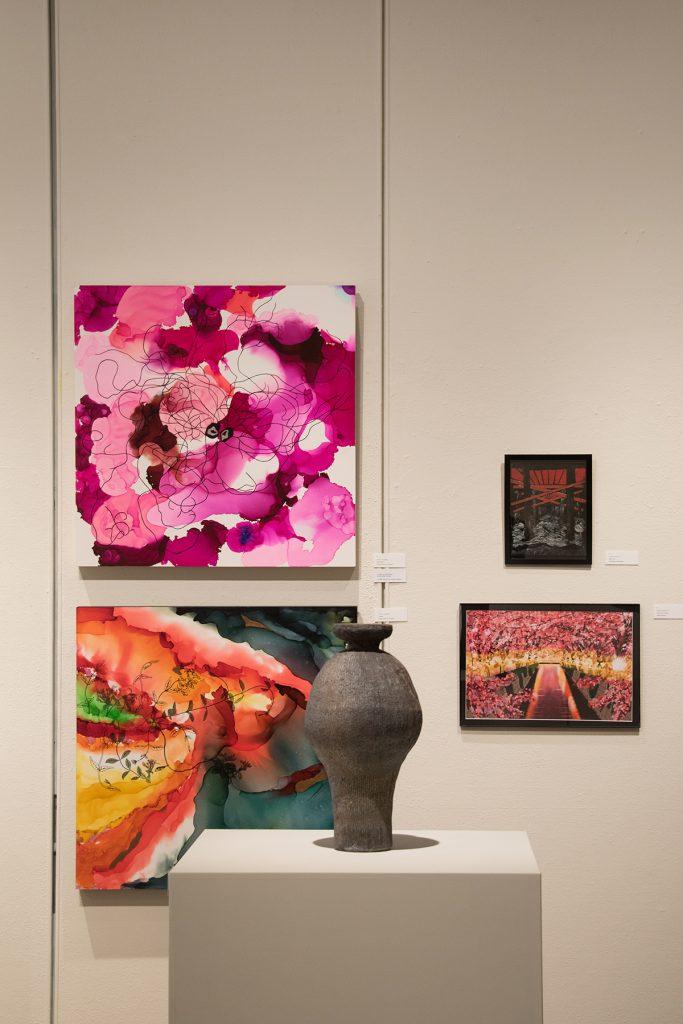 Annual Student Exhibition, 2018: artwork by Nikita Nenashev, Leah Caldwell, Hazel Coppola, Jenny Whitecar