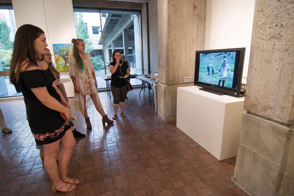 Open Sky: Taft-Nicholson Residency Exhibition, Gittins Gallery, September 2017; video by Eva Holbrook
