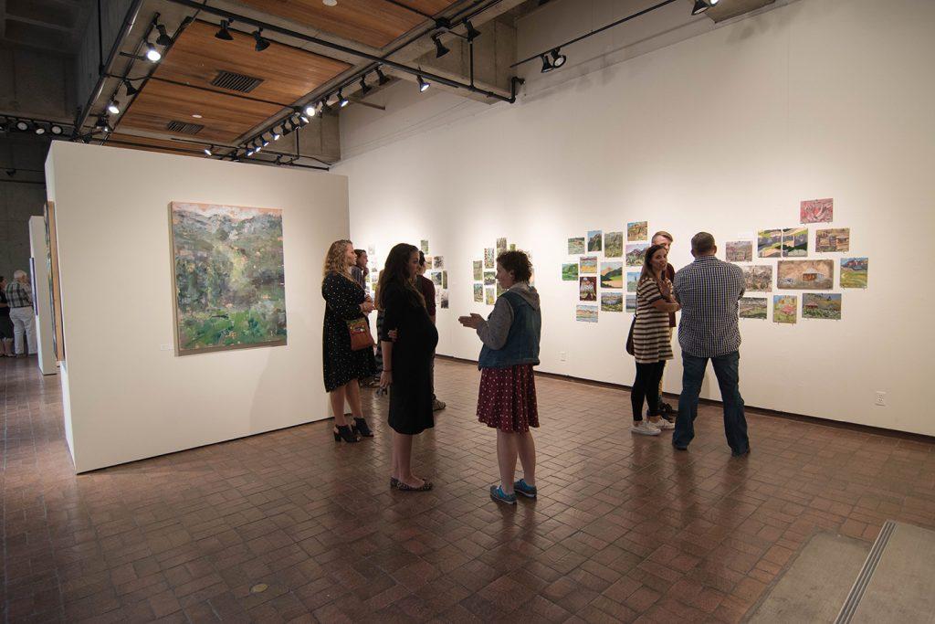 Open Sky: Taft-Nicholson Residency Exhibition, Gittins Gallery, September 2017: artwork: Mitchell Lee (left)